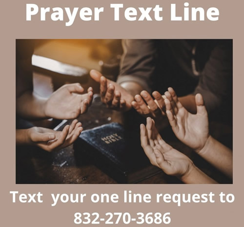 St John's Downtown Prayer Text Line